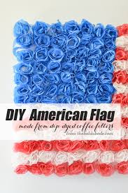 White American Flag Diy American Flag Made From Dip Dyed Coffee Filter Flowers Plus