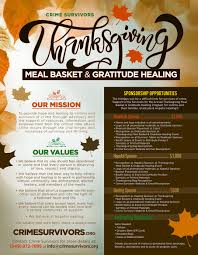 2017 thanksgiving meal baskets and gratitude healing crime