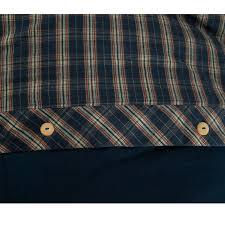 Tartan Flannelette Duvet Cover Highland Blue Tartan Check Brushed Cotton Thermal Flannelette