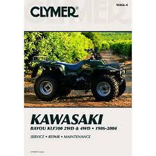 clymer atv manual kawasaki bayou klf300 2wd u0026 4wd chaparral