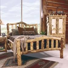 mountain woods log furniture aspen log bed snowload i