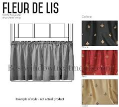 Fleur De Lis Curtains Marvelous Fleur De Lis Curtains And Custom 50 Wide Cafe Curtain