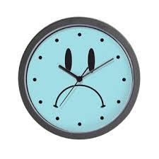 sad face wall clock u003e retro clocks 12 u003e clock o rama
