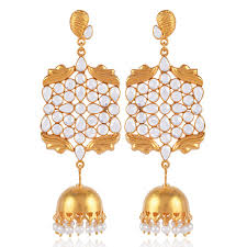 jhumki earring amazing sterling silver gold plated jhumka earring buy now cz and