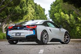 bmw i8 stanced unequaled rarity bmw i8 equipped with vorsteiner v ff 103 wheels
