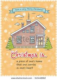 christmas greeting card poster template flat stock vector