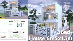 Homeplan Com by How To Get Inspire Sketchup Modern Home Plan 6 5x15m Youtube