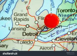 Images Of The Usa Map by Detroit Maps And Orientation Detroit Michigan Mi Usa Trip Map