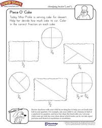 piece o u0027 cake u2013 math worksheet for kids on fractions u2013 jumpstart