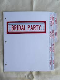 wedding planning binder wedding binder dividers