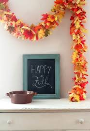 fall garland easy diy fall leaves fringe party garland pretty providence