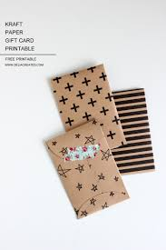 How To Fold Paper For Envelope Kraft Paper Gift Card Envelope U2013 Free Printable