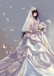 wedding dress anime tags anime wedding wedding dress white flower xiamianliele