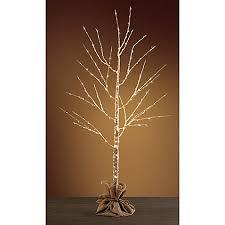 pre lit led birch tree bed bath beyond