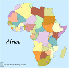 map of africa with country names outline base maps