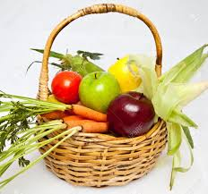 basket of fruit basket of fruits and vegetables with apples pears carrots