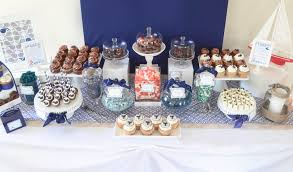 nautical navy whale baby shower dessert table u2013 cw distinctive