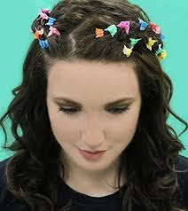 butterfly hair butterfly hair 90s hair accessories 100 pack bright