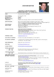 Job Resume Sample In Malaysia by Executive Cv Examples Uk