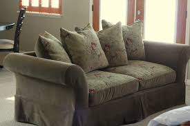 Plantation Patterns Seat Cushions by Custom Slipcovers By Shelley White Twill Couch