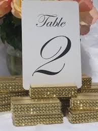 wedding table number holders gold wedding table number holder trimmed with a gold wrap