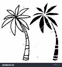 palm tree drawing pencil art drawing