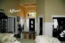 Decorating Open Floor Plan Before U0026 After Curse Of The Open Floor Plan The Joy Of Moldings Com