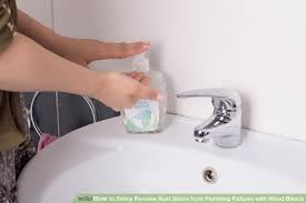 Bathroom Plumbing Fixtures 3 Ways To Safely Remove Rust Stains From Plumbing Fixtures With