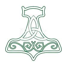 vector illustration for nordic community mjolnir or the hammer of