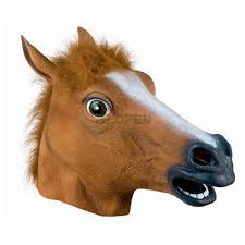 cosplay halloween horse head mask latex animals zoo party costume