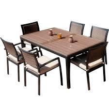 Patio Furniture 7 Piece Dining Set - furniture dining set by sunbrella outdoor furniture with umbrella