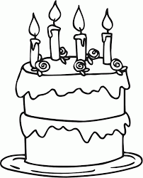 birthday cake coloring pages for kids kids coloring