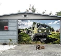 3d big trailer 180 garage door murals wall print decal wall deco