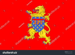 Flag Capital Flag Arras Capital Pasdecalais Department Which Stock Vector