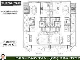 whitley residences floor plans freehold strata homes at whitley