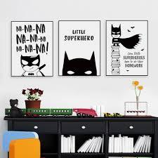 popular batman cartoon posters buy cheap batman cartoon posters nordic black white superhero batman hippie quote poster boy kids room wall art canvas painting home