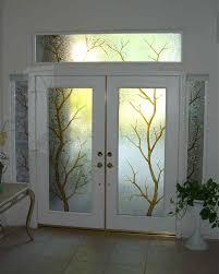 glass front door window treatments home design ideas