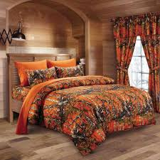 Orange Bed Sets Orange Camo Bed In A Bag Set The Sw Company