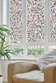 home decoration attractive etched leaf artscape window film ideas