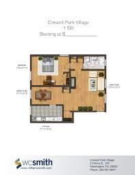 One Bedroom House Plans With Photos by Crescent Park Village Bedroom Floor Plans Crescents And Apartments
