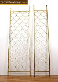 Gold Room Divider by Mid Century Modern Gold Colored Aluminum Room Divider Screens