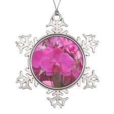 orchid flower ornaments keepsake ornaments zazzle