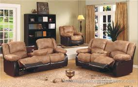 Leather Reclining Sofa Sets Sale Leather With Fabric Furniture Emeryn