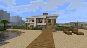 modern house minecraft modern house tutorial beach town project minecraft project easy
