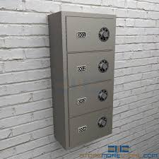 In Wall Security Cabinet Wall Mounted Sidearm Lockers Vertical Pistol Compartments
