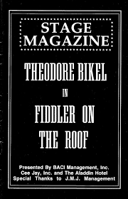 Fiddler On The Roof Synopsis by Theodore Bikel