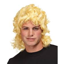 wigs for halloween blonde mullet wig wigs