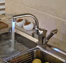 changing a kitchen sink faucet brushed nickel led changing kitchen sink faucet with pull out