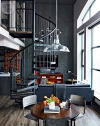 loft tour retro industrial design spiral staircases industrial