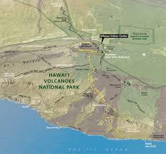 Map Of Hawaii Big Island Drive Chain Of Craters Road Hawai U0027i Volcanoes National Park